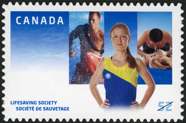 Lifesaving Society Canada Postage Stamp