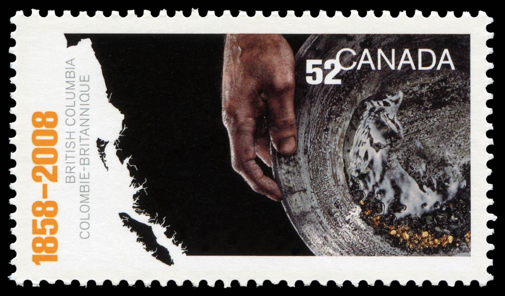British Columbia's 150th Anniversary Canada Postage Stamp