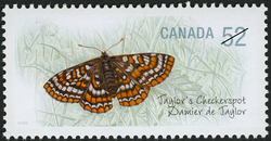 Taylor's Checkerspot Canada Postage Stamp | Endangered Species