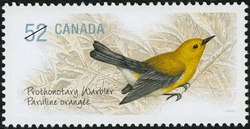 Prothonotary Warbler Canada Postage Stamp | Endangered Species