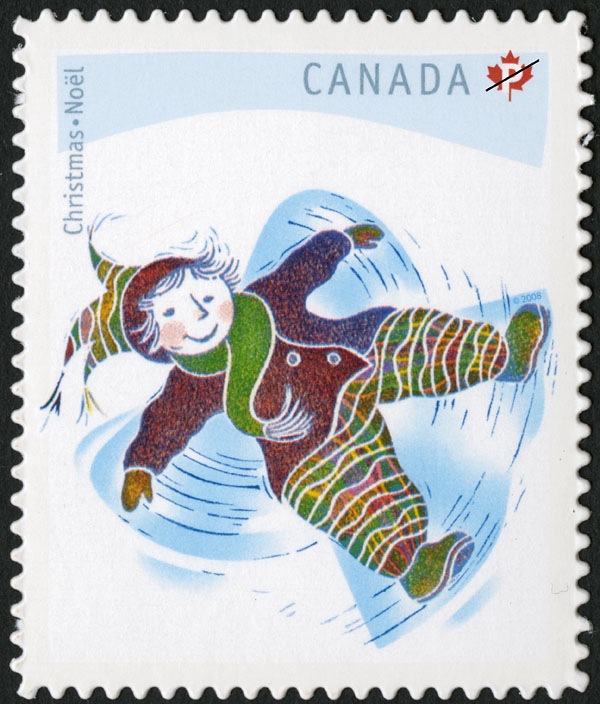 Snow Angel Canada Postage Stamp | Christmas: Winter Fun