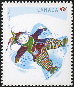 Snow Angel Canada Postage Stamp | Christmas: Winter Fun