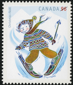 Skiing Canada Postage Stamp | Christmas: Winter Fun