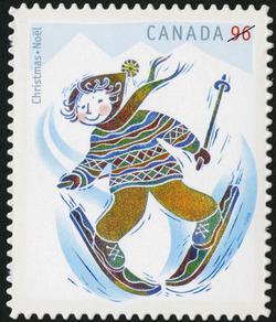 Skiing Canada Postage Stamp | Christmas: Winter Fun