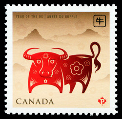 Year of the Ox Canada Postage Stamp | Chinese New Year
