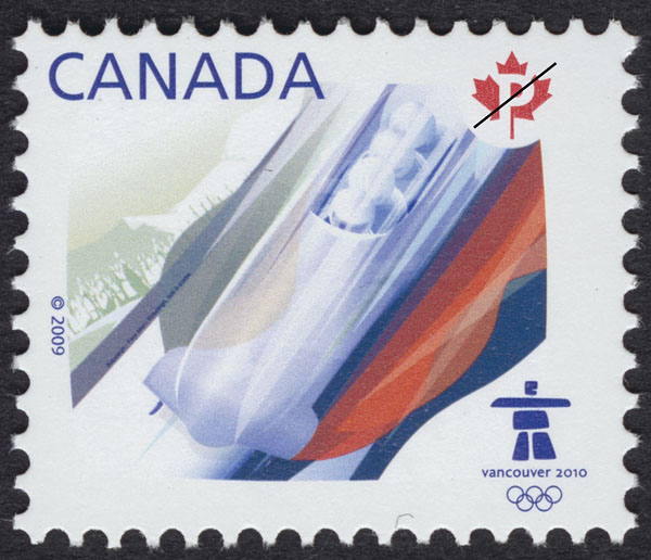 Bobsleigh Canada Postage Stamp | Sports of the 2010 Winter Games