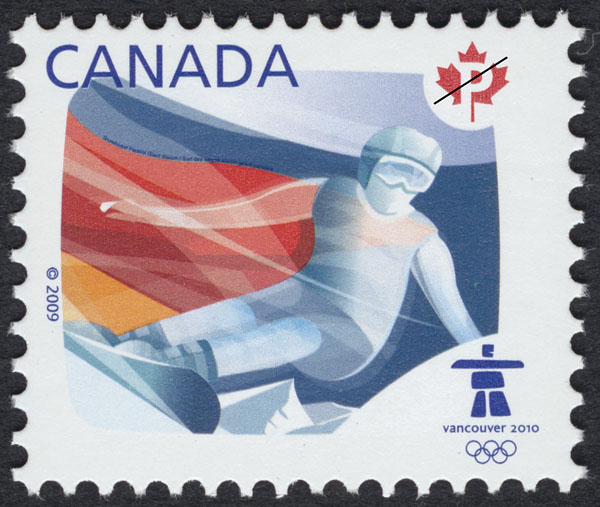 Snowboard Canada Postage Stamp | Sports of the 2010 Winter Games