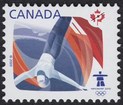 Freestyle skiing Canada Postage Stamp | Sports of the 2010 Winter Games