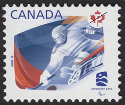 Ice sledge hockey Canada Postage Stamp | Sports of the 2010 Winter Games