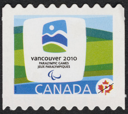 Vancouver 2010 Paralympic Winter Games emblem Canada Postage Stamp | Vancouver 2010 Winter Games Mascots and Emblems