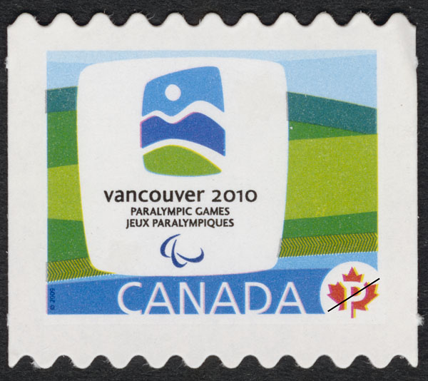 Vancouver 2010 Paralympic Winter Games emblem Canada Postage Stamp