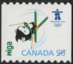 Miga Canada Postage Stamp | Vancouver 2010 Winter Games Mascots and Emblems