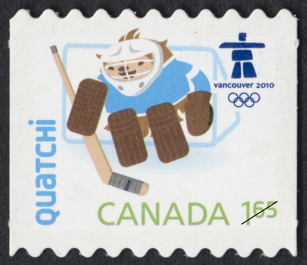 Quatchi Canada Postage Stamp | Vancouver 2010 Winter Games Mascots and Emblems