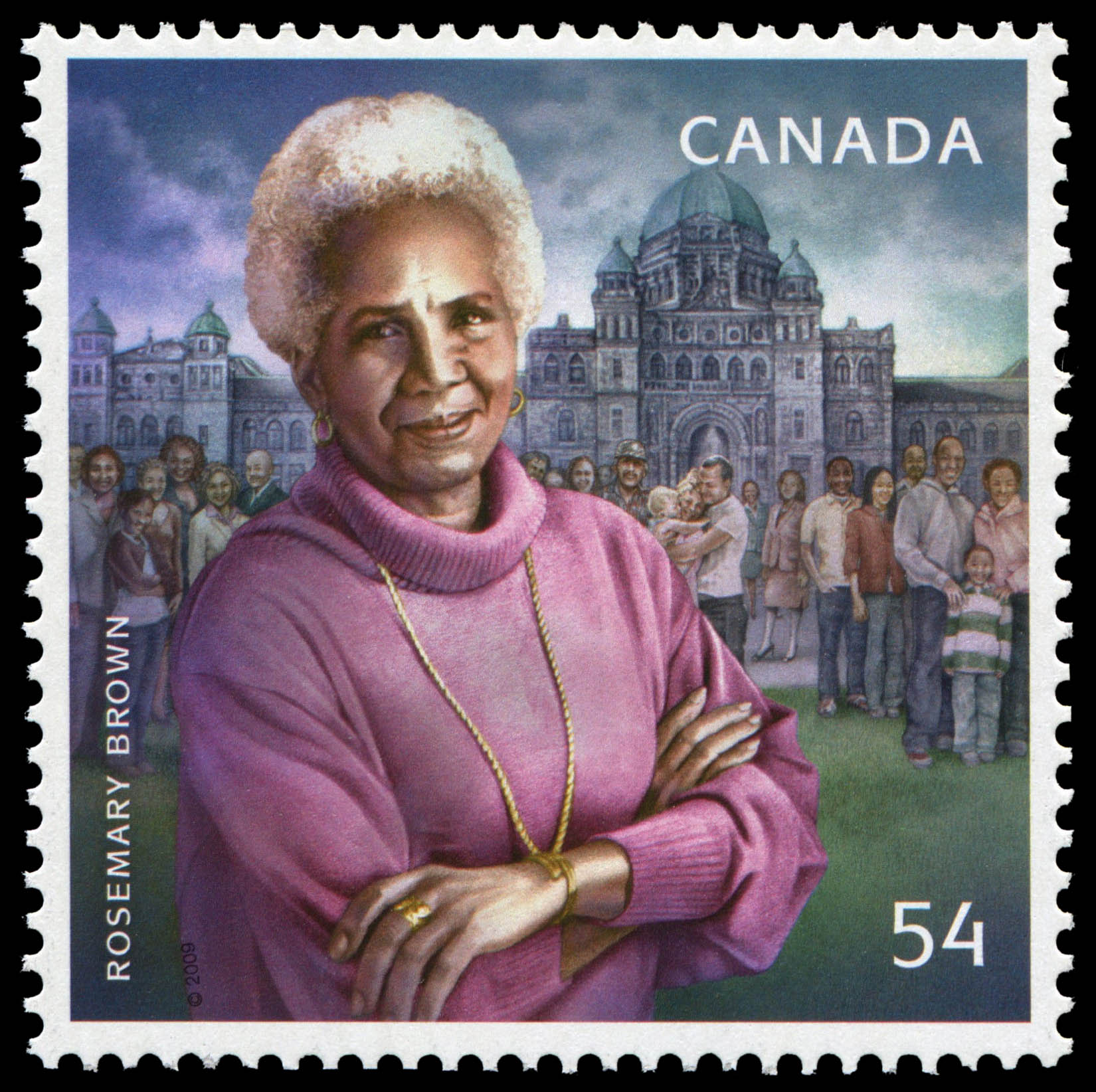 Rosemary Brown Canada Postage Stamp | Black History Month