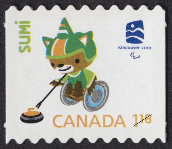Sumi Canada Postage Stamp   Vancouver 2010 Winter Games Mascots and Emblems