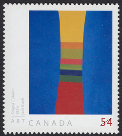Striped Column, 1964, Jack Bush Canada Postage Stamp | Art Canada