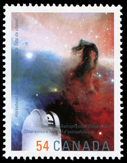 Horsehead Nebula, Dominion Astrophysical Observatory Canada Postage Stamp | International Year of Astronomy
