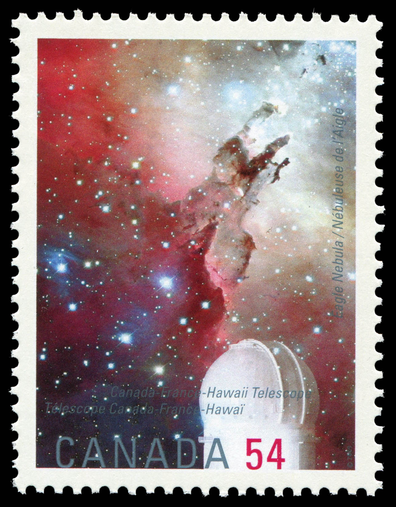 Eagle Nebula, Canada-France-Hawaii Telescope Canada Postage Stamp | International Year of Astronomy
