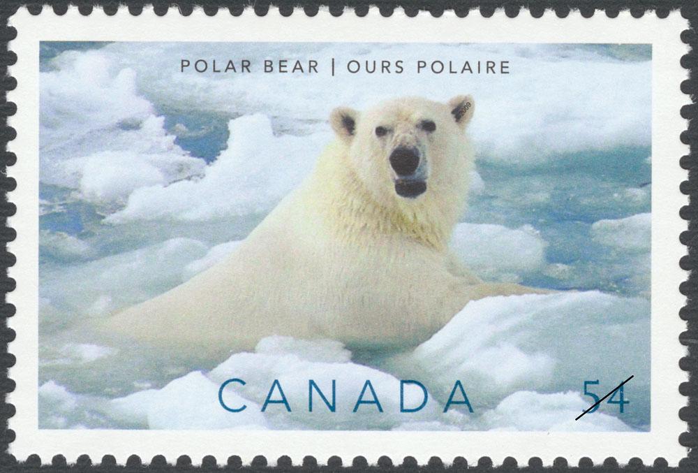 Polar Bear Canada Postage Stamp   Preserve the Polar Regions and Glaciers
