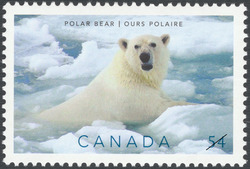 Polar Bear Canada Postage Stamp | Preserve the Polar Regions and Glaciers