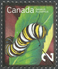 Monarch Caterpillar Canada Postage Stamp | Beneficial Insects