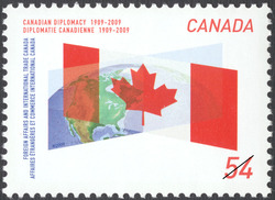 Canadian Diplomacy, 1909-2009 Canada Postage Stamp