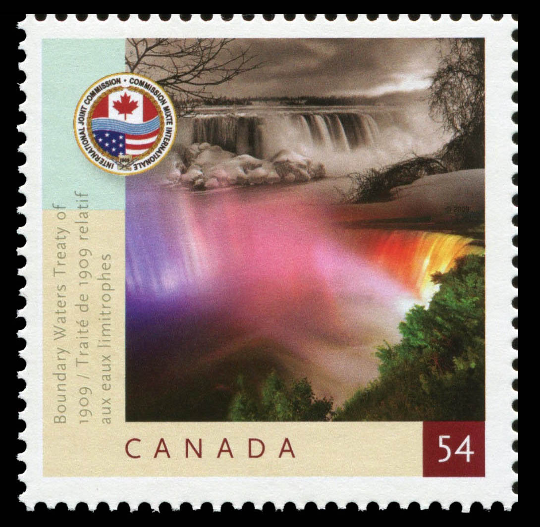 Boundary Waters Treaty of 1909 Canada Postage Stamp