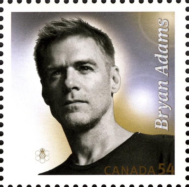Bryan Adams Canada Postage Stamp | Canadian Recording Artists