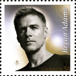 Bryan Adams Canada Postage Stamp | Canadian Recording Artists