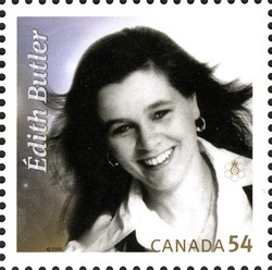 Edith Butler Canada Postage Stamp   Canadian Recording Artists