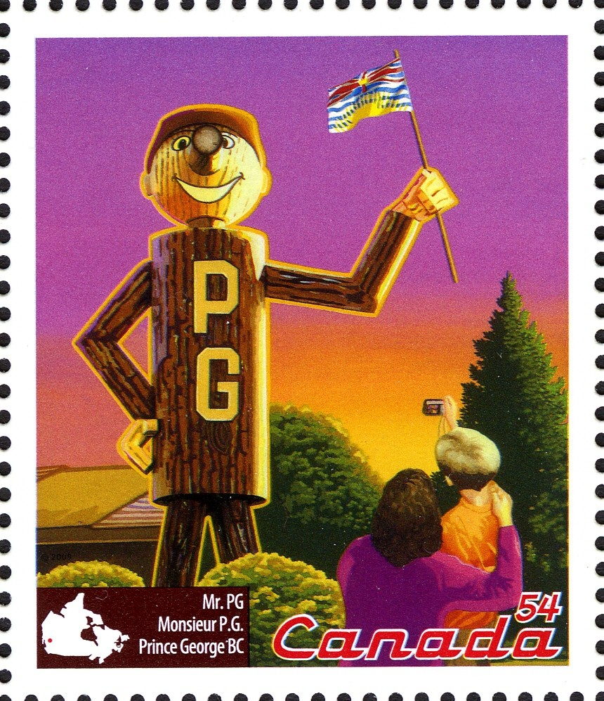 Mr. PG, Prince George, BC Canada Postage Stamp | Roadside Attractions