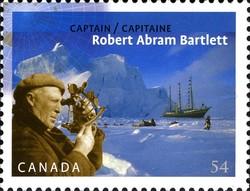 Captain Robert Abram Bartlett Canada Postage Stamp