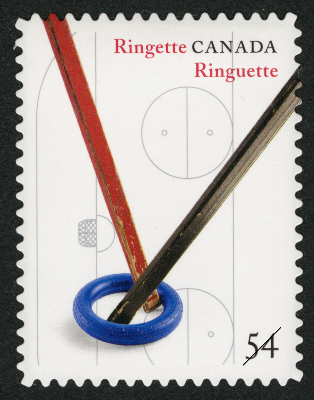 Ringette Canada Postage Stamp | Canadian Inventions: Sports