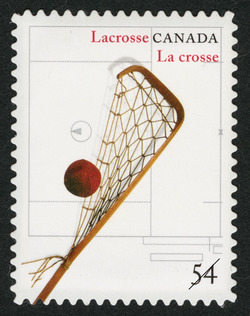 Lacrosse Canada Postage Stamp | Canadian Inventions: Sports