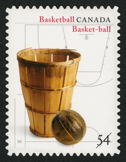 Basketball Canada Postage Stamp | Canadian Inventions: Sports