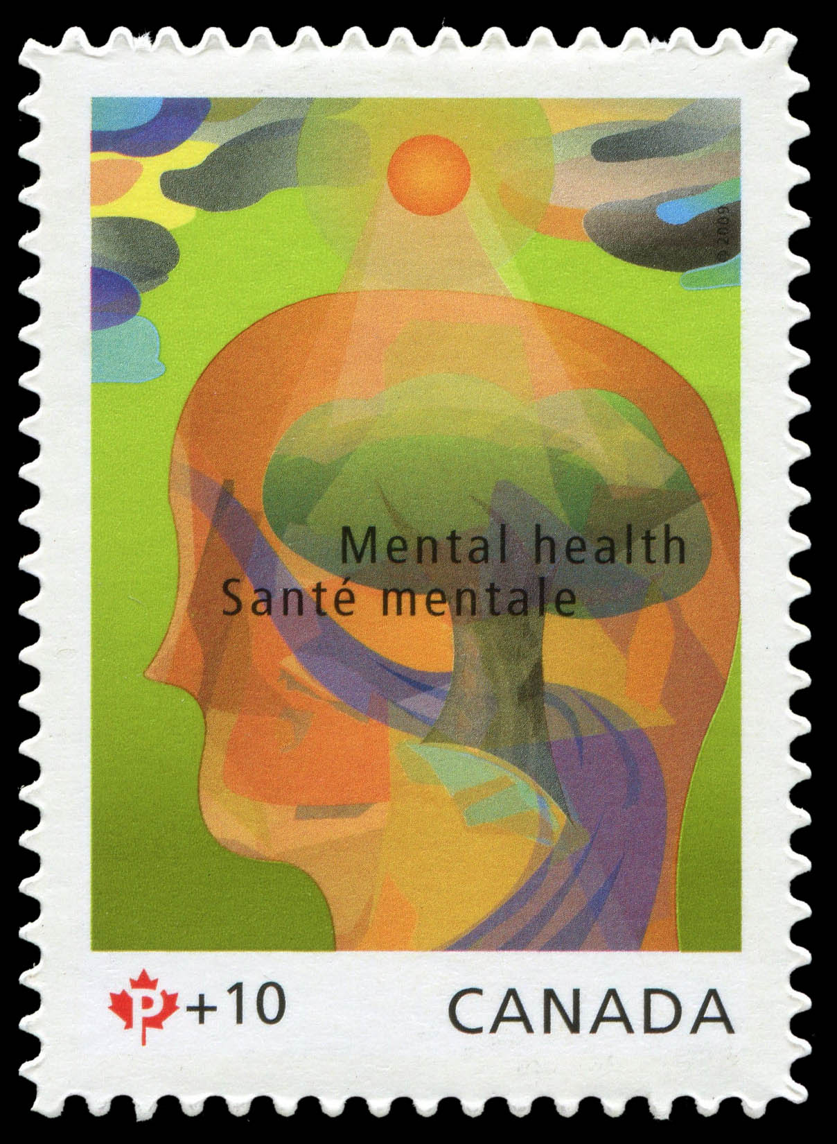 Mental Health Canada Postage Stamp