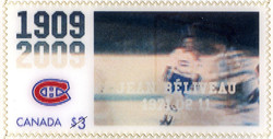 Jean Beliveau, 1971.02.11 Canada Postage Stamp | Montreal Canadiens, 100th Anniversary
