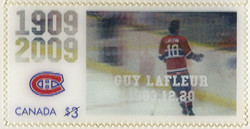 Guy Lafleur, 1983.12.20 Canada Postage Stamp | Montreal Canadiens, 100th Anniversary