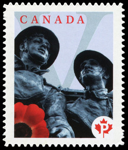 Lest We Forget Canada Postage Stamp