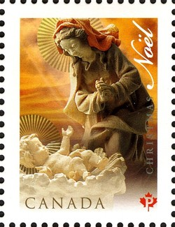Madonna and Child Canada Postage Stamp | Christmas, Nativity Scene