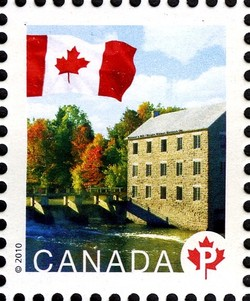 Watson's Mill Canada Postage Stamp | Flag, Historic Mills