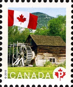 Keremeos Grist Mill Canada Postage Stamp | Flag, Historic Mills