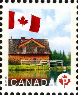 Riordon Grist Mill Canada Postage Stamp | Flag, Historic Mills