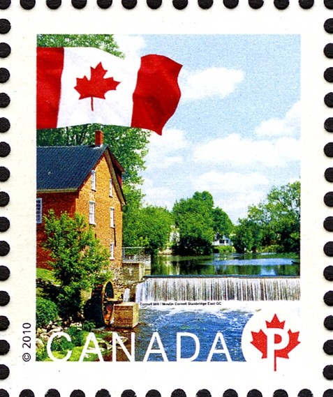Cornell Mill Canada Postage Stamp | Flag, Historic Mills
