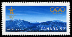 Whistler BC Canada Postage Stamp | Vancouver 2010 Olympic Winter Games