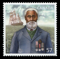 William Hall V.C. Canada Postage Stamp | Black History Month