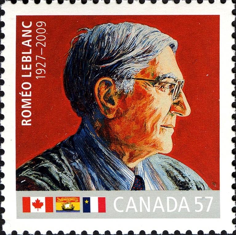 Romeo LeBlanc, 1927-2009 Canada Postage Stamp