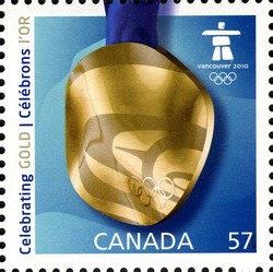 Celebrating Gold Canada Postage Stamp