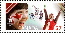 Women's cross-country sprint Canada Postage Stamp | Celebrating our Olympic Spirit