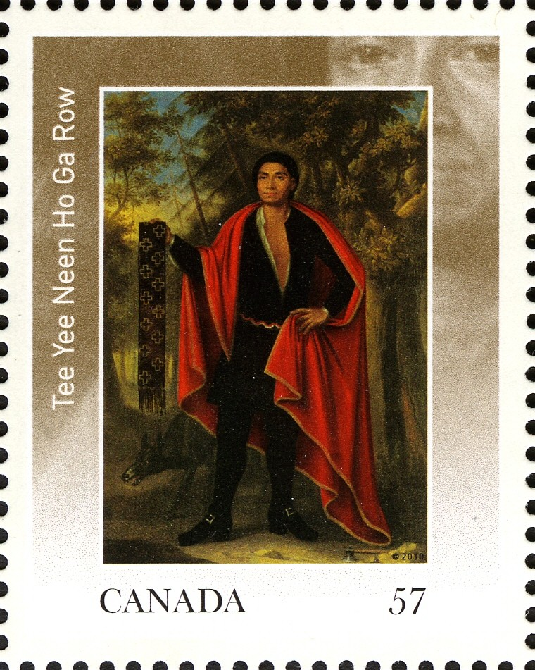 Tee Yee Neen Ho Ga Row Canada Postage Stamp | The Four Indian Kings